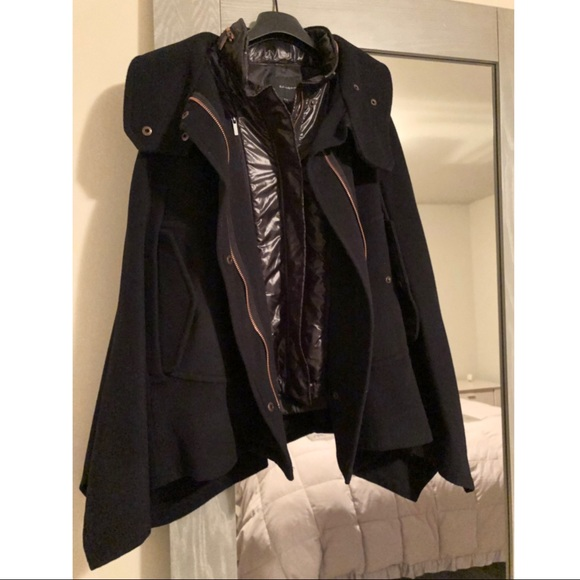Kai-Aakmann Jackets & Blazers - Cape with Removable Vest by Kai-Aakmann, Dark Navy
